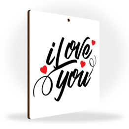 Tabliczka zawieszka I love you