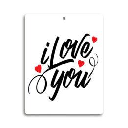 Tabliczka zawieszka I love you 2