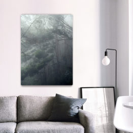 Panel drzewa we mgle dekoracja