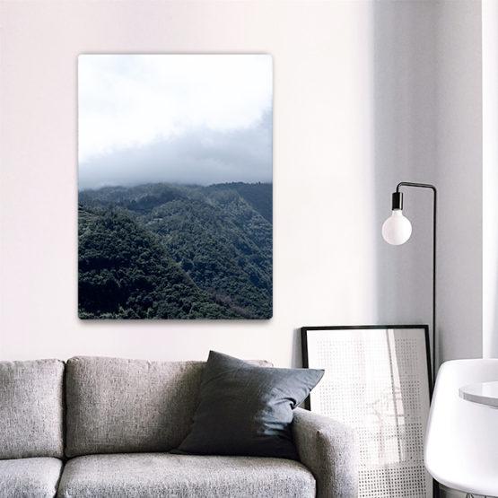 dekoracja mgła i góry panel