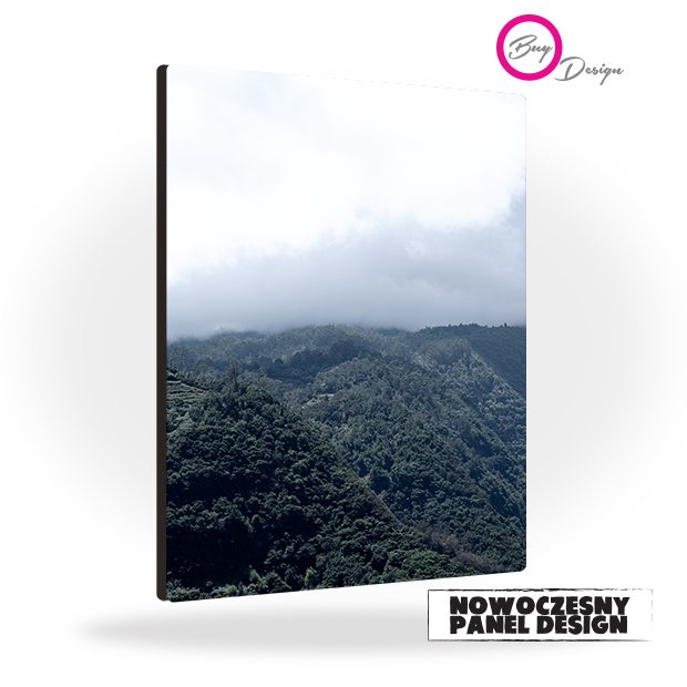 Panel design mgła i góry