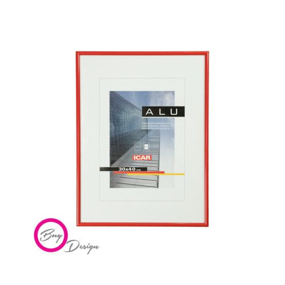 Rama czerwona do plakatów i grafik Alu C 5 30/40