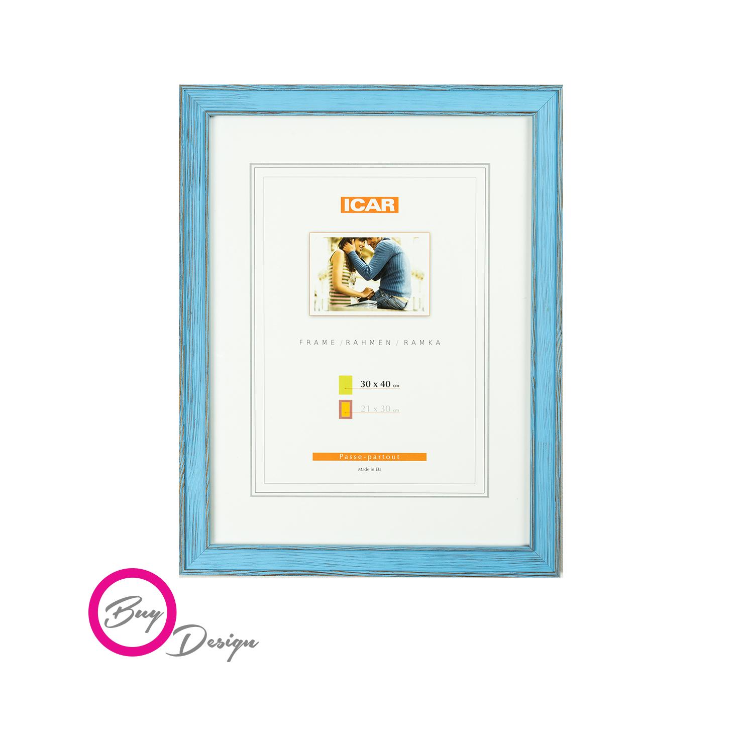Rama drewniana 30x40 niebieska - DRL U 15 - Buy Design