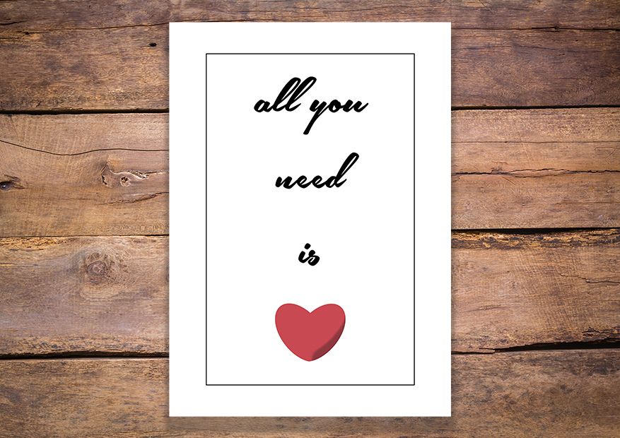 All you need is love plakat - 7350 - Buy Design