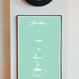 Czas na kawę plakat do kawiarni