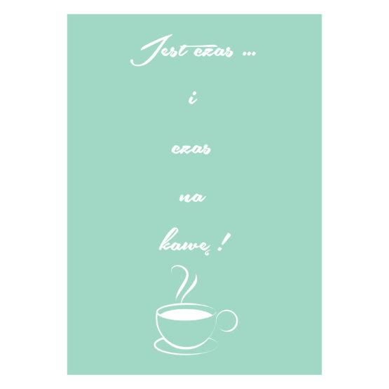 Czas na kawę plakat do kawiarni - 2129