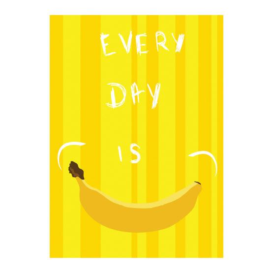 Bananowy plakat z uśmiechem do domu - 6689