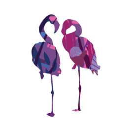 Poster home design flamingo - 7676