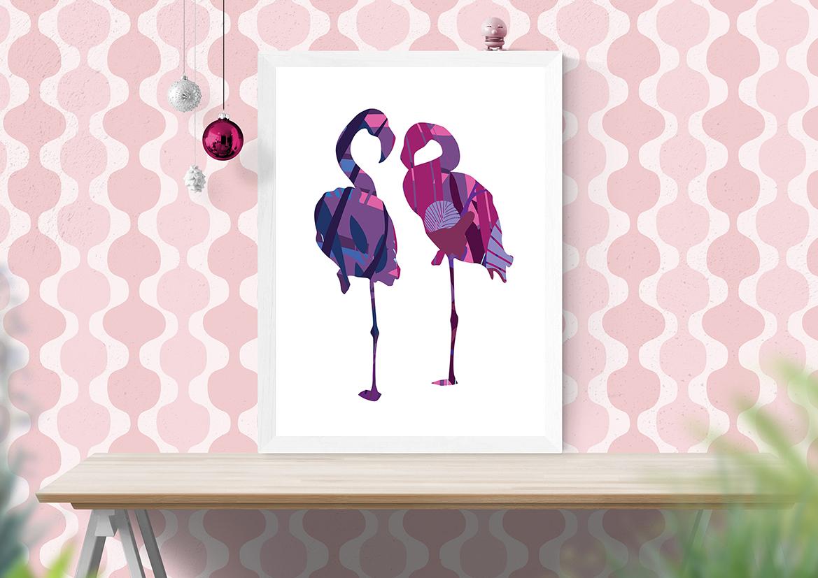 Plakaty dekoracje flamingo