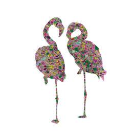 Flamingi plakat na ścianę do mieszkania - 4434