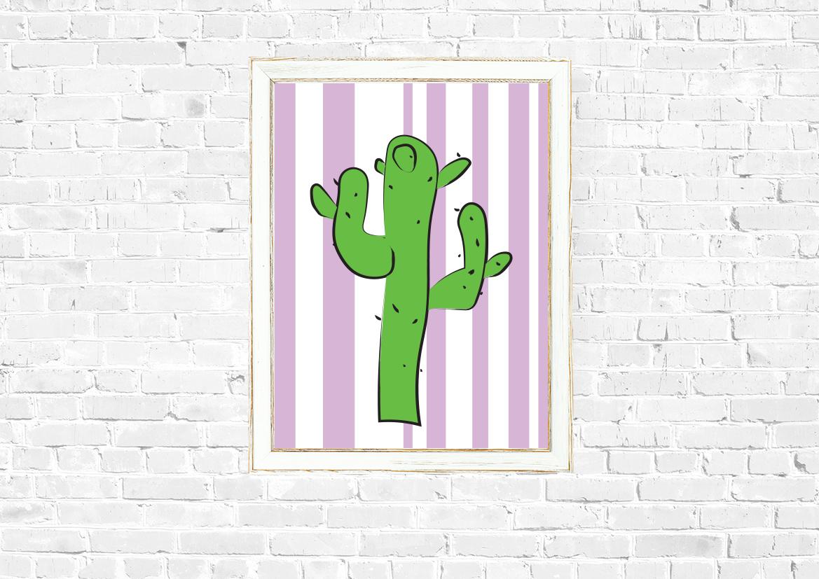 Kolorowy plakat grafika kaktus - 9897 - Buy Design