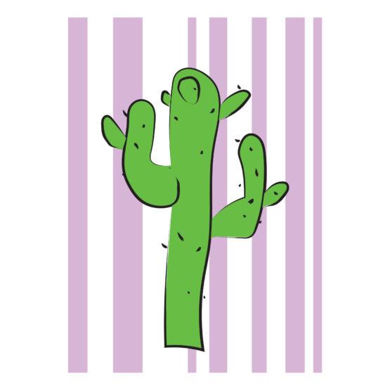 Kolorowy plakat grafika kaktus - 9897