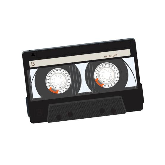 Kaseta magnetofonowa kultowy symbol muzyki - 4509