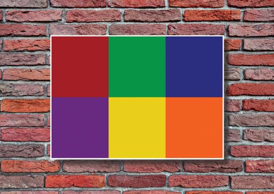 Kolorowe kwadraty super design - 9982