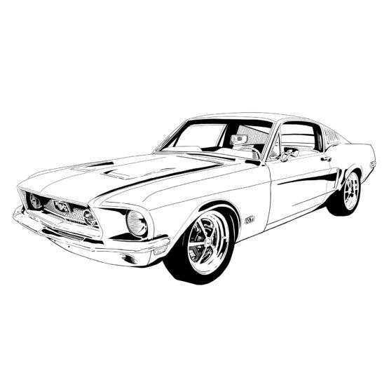 Samochód plakat Mustang GT