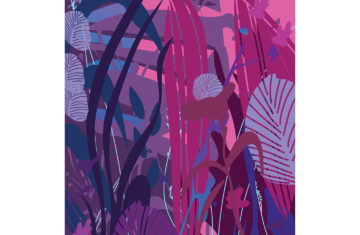 Abstrakcyjna natura plakat z charakterem - 7334