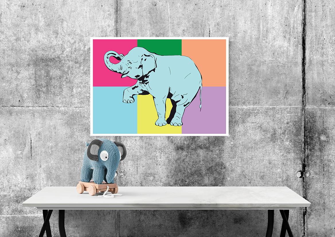 Kolorowy słoń - 9804 - Buy Design