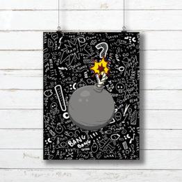 boom plakat młodzieżowy do pokoju - 7778