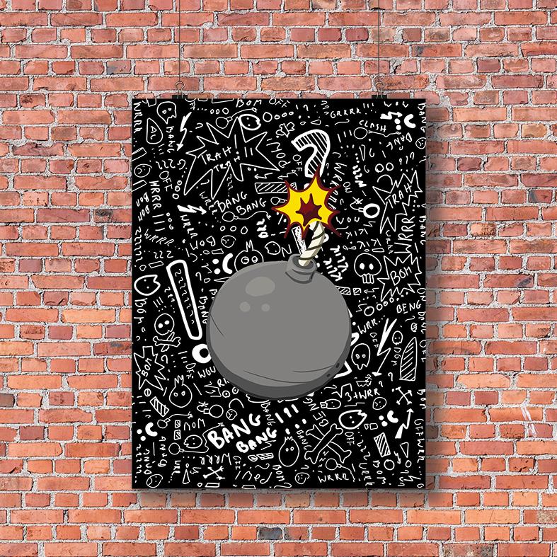 Boom plakat młodzieżowy do pokoju - 7778 - Buy Design
