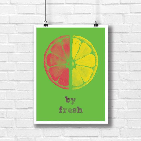 by fresh plakat do kuchni lub do lokalu - 7751