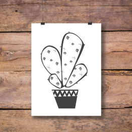 Projekt plakat kaktus do mieszkania i domu - 4509