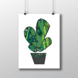 kaktus dekoracja
