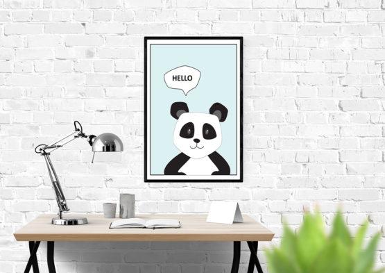 Panda plakat do pokoju dziecięcego - 9934