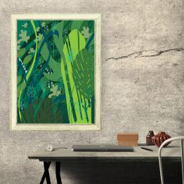 Zielona natura plakat abstrakcyjny - 6909