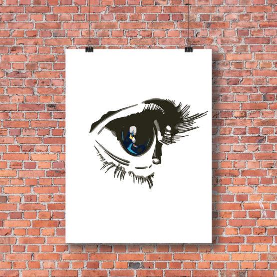 Oryginalna grafika na ścianę oko - 8881