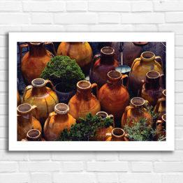 Gliniane dzbany ciekawy fotoplakat do mieszkania - 4009