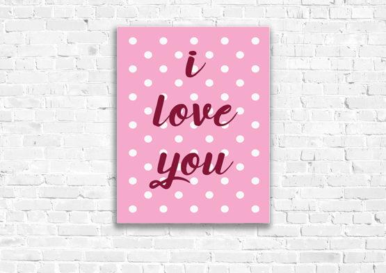 i love you plakat