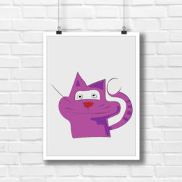 Kot JON plakat dla dziecka - 6313