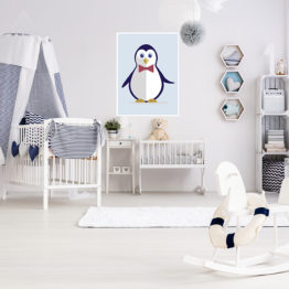 plakat pingwinek