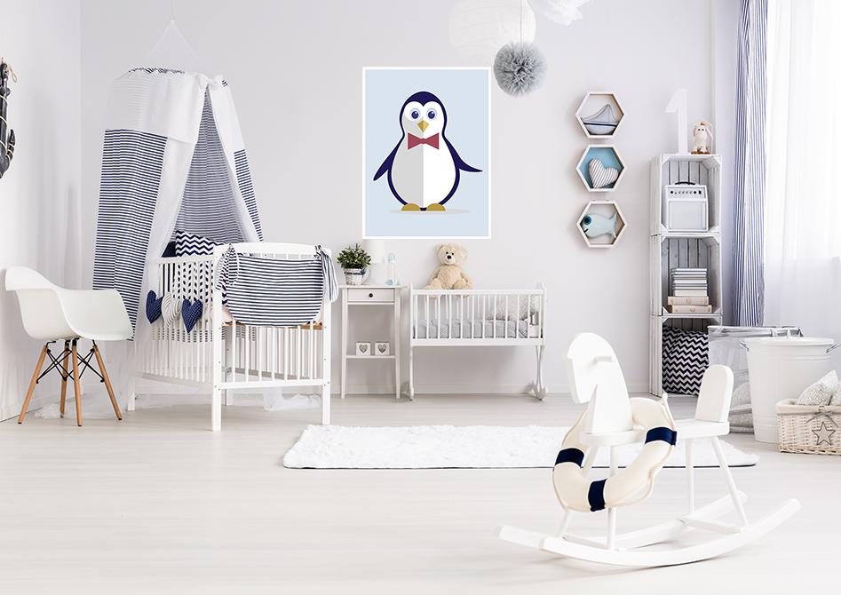 Plakat do dziecięcego pokoju Pingwinek Ważniak