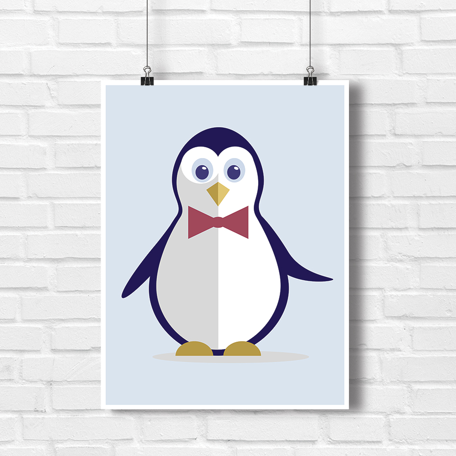 Pingwiny w akcji pokój dziecka w innym wymiarze