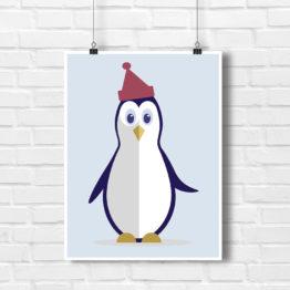 Pingwinek Śmieszek w czerwonej czapce - 6798