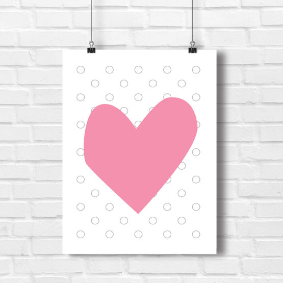 Plakat serce grafika na ściany - 4124