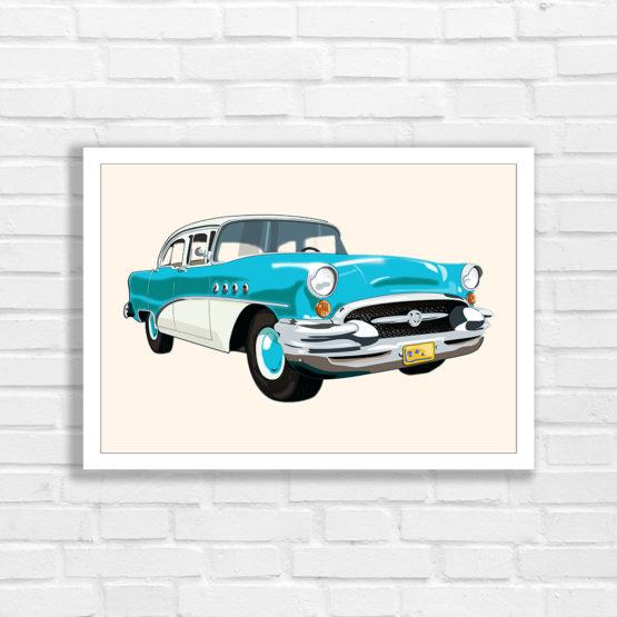 Oldtimer buick poster na ścianę - 8739