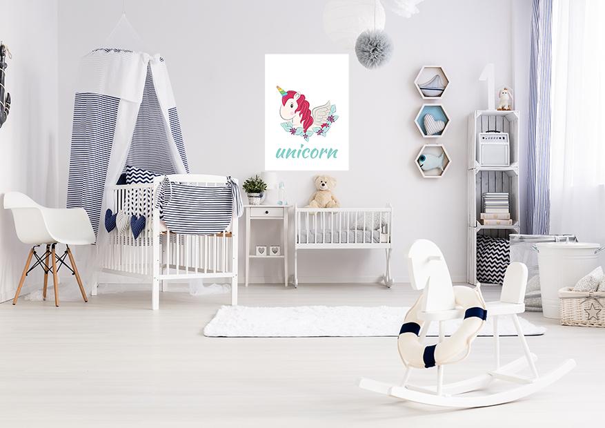 Obrazek do pokoju dziecięcego jednorożec