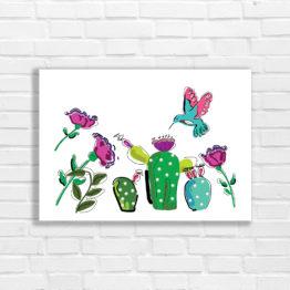 Koliber kolorowy poster do wnętrz - 3303