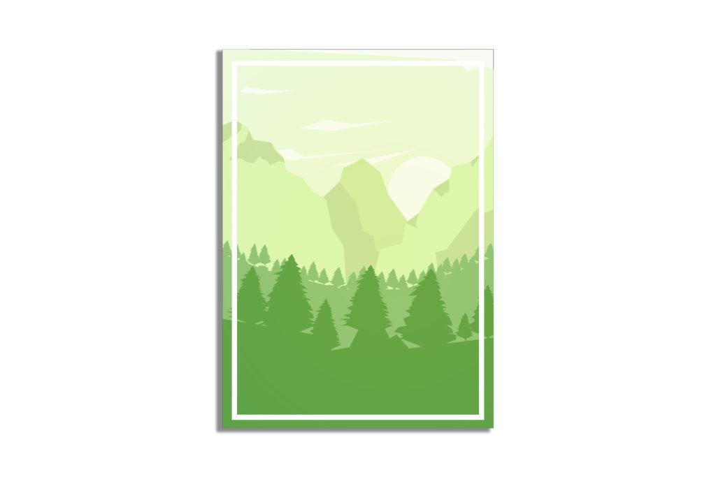Las i góry dekoracja do domu - 4517 - Plakat