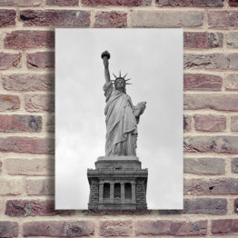 Statua Wolności plakat czarno biały - 8731 - Plakat