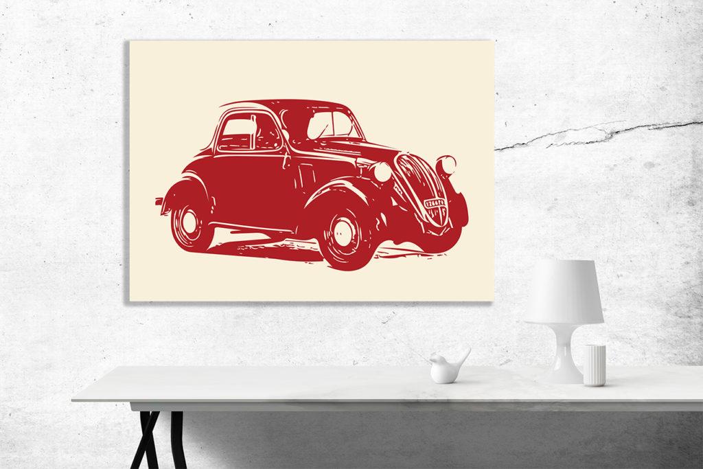 Fiat Topolino grafika na ścianę - 2232