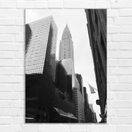 Czarno biały foto plakat budynki miasto - 5717 - Plakat