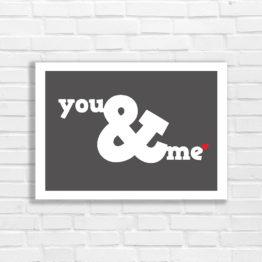 you & me plakat do wnętrza - 7871
