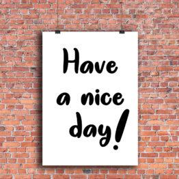 plakat miłego dnia