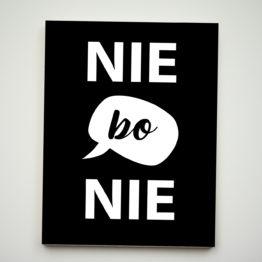 Zabawny magnes z napisem Nie bo Nie - 23423 - Buy Design