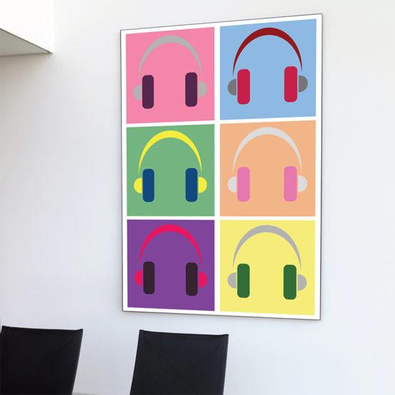 Słuchawki plakat