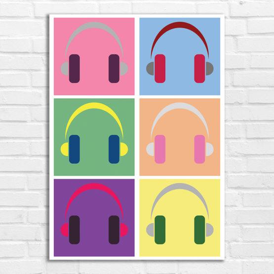 plakat słuchawki