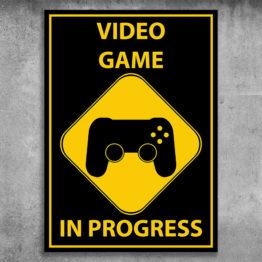 plakat dla gracza komputerowego